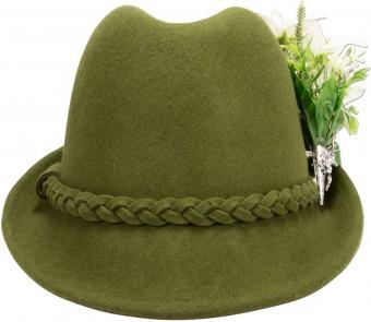 Trachtenhut Filzhut Edelweiß grün