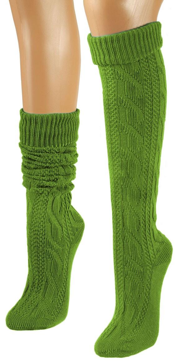 Trachtensocken grün knielang