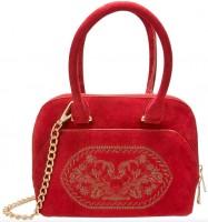 Vorschau: Trachtentasche Steinbock rot