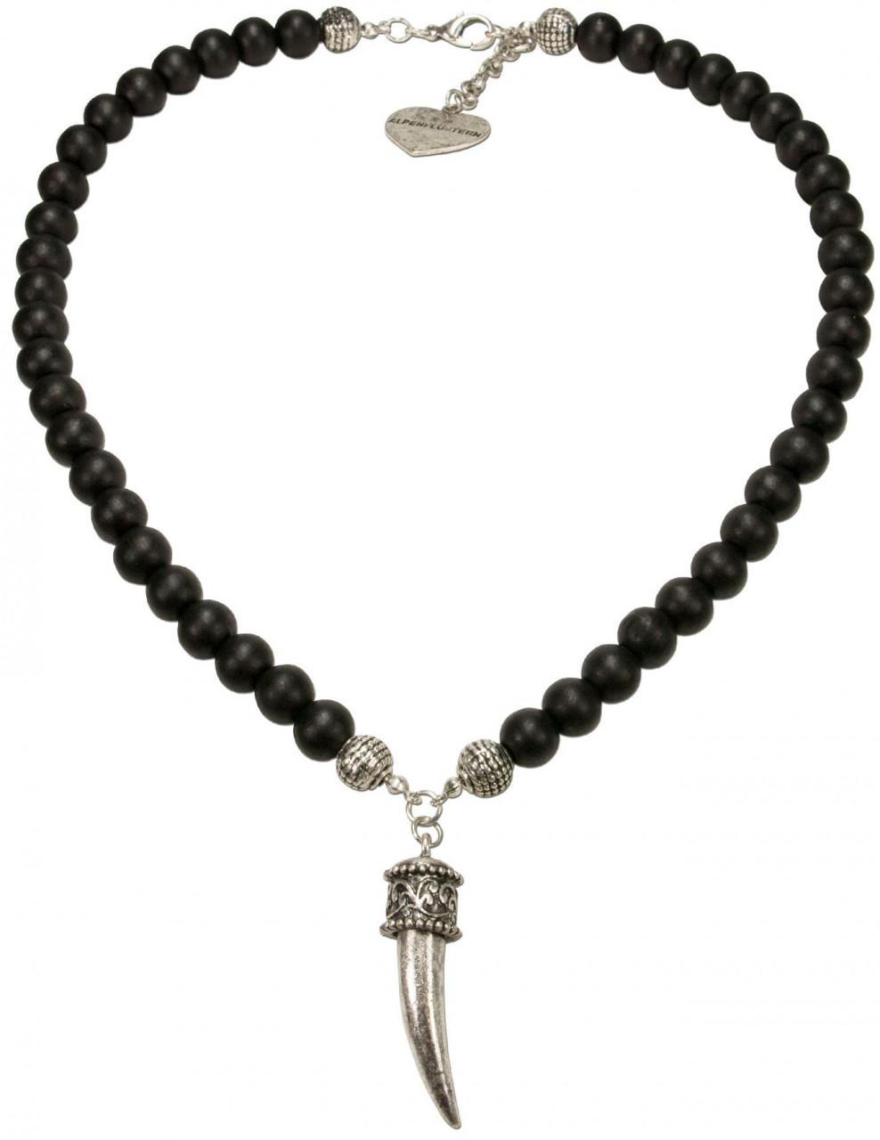 Trachten Halskette Rehgeweihspitze