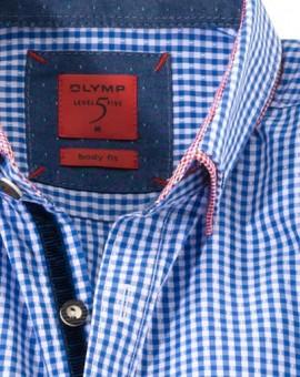Olymp Hemd Trachtenhemd blau/weiss