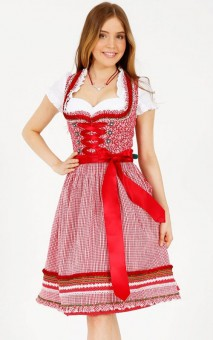 Dirndl Mariella czerwony