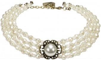 Trachten-Perlenkette Ellie cremeweiß