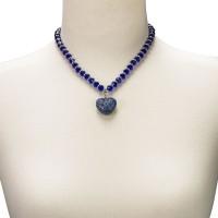 Vorschau: Perlenkette Mathilda blau