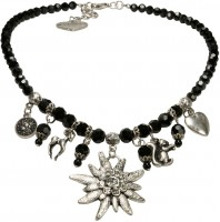 Vorschau: Edelweiß Perlenhalskette Marie schwarz