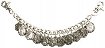 Coin Charivari Chain Vitus, Antique Silver