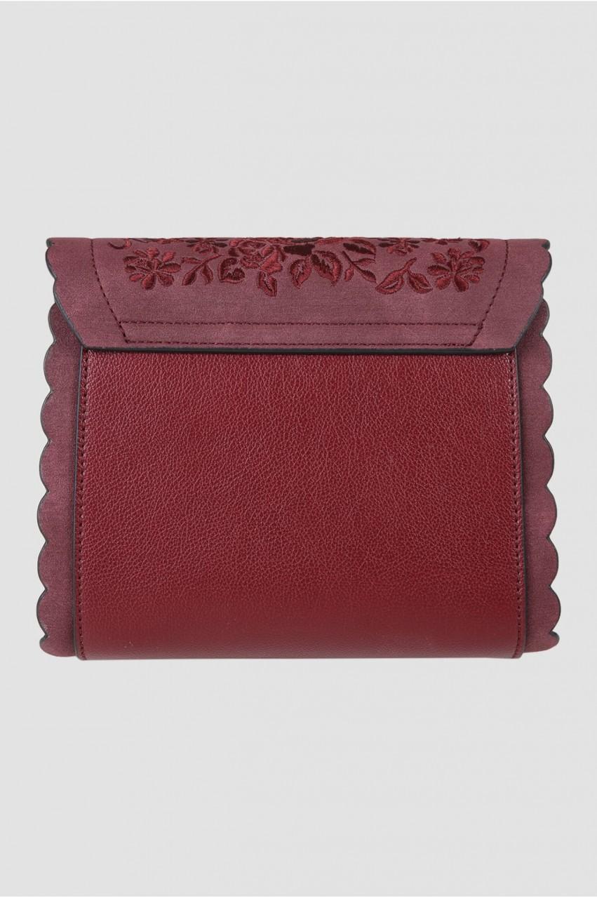 Trachtentasche Blümchenspiel rot