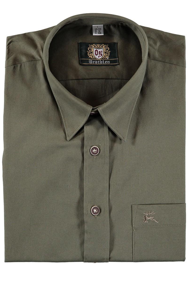 Heren shirt Luisl olijfgroen