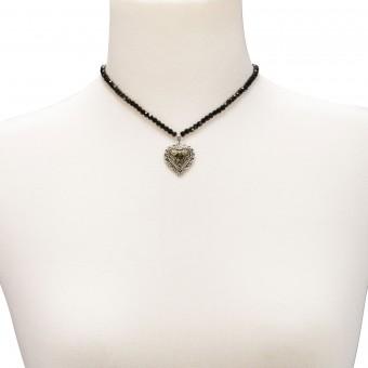 Trachten Perlenhalskette Lilli schwarz