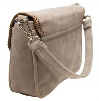 Trachtentasche mit Verzierung taupe-grau