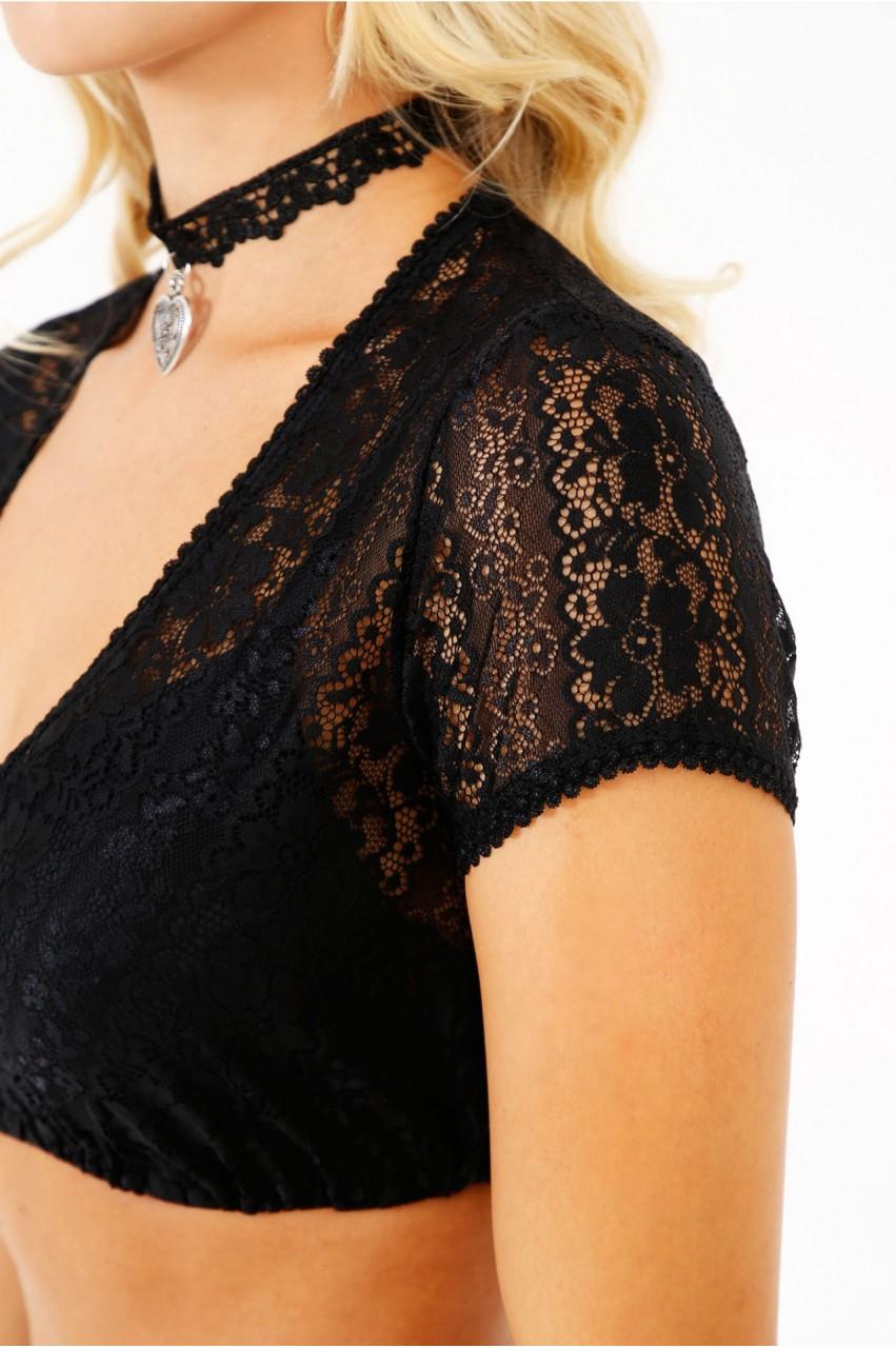 Dirndl bluzka Nani czarna