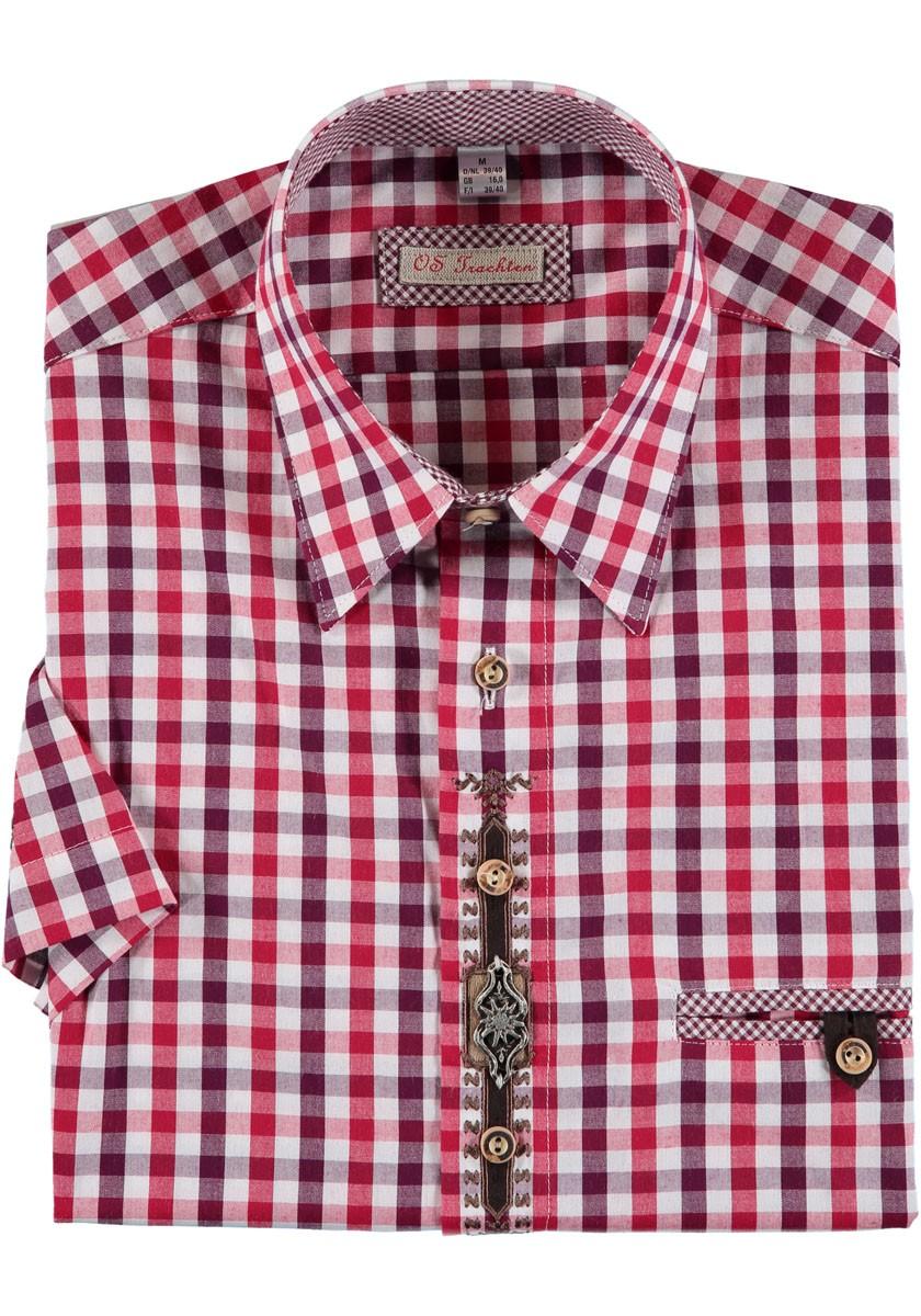 Koszula męska Hartmann czerwona