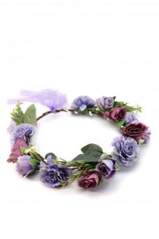 Haarkranz mit lila Blüten