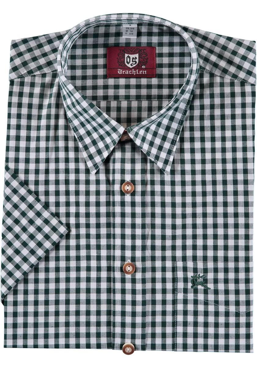 Koszula Trachten Bertl ciemnozielona w kratkę