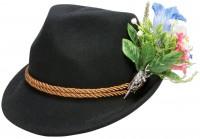 Vorschau: Filzhut Alpenblümchen schwarz