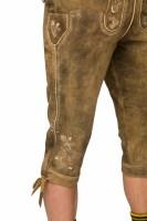 Vorschau: Kniebundlederhose Justin hellbraun