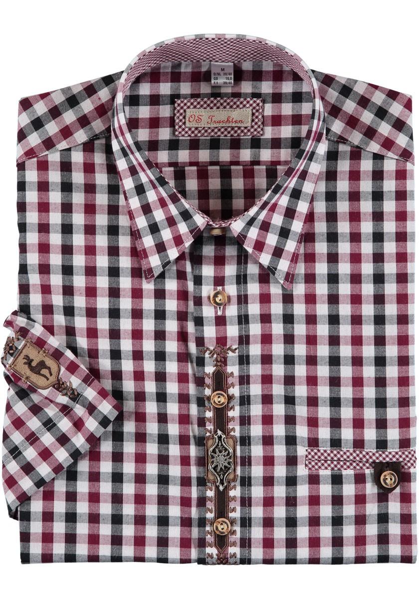 Heren shirt Hartmann rood / zwart