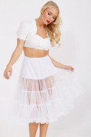 Preview: Petticoat in white 70cm
