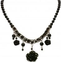 Vorschau: Perlenkette Jolina schwarz