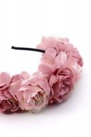 Vorschau: Haarreif mit großen rosa Blüten