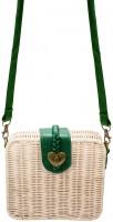 Vorschau: Trachtentasche Rattantasche grün