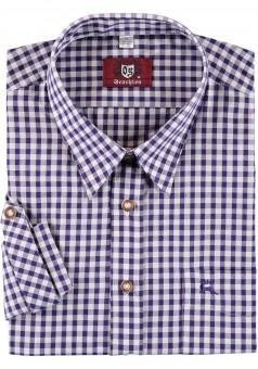 Trachtenhemd Fred violett-kariert