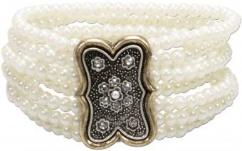 Trachten-Perlenarmband Lorelei cremeweiß
