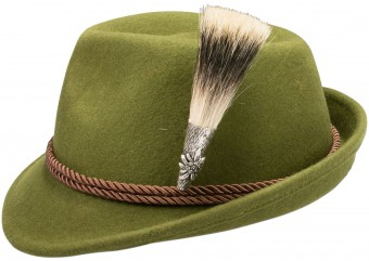 Trachten Hat, Edelweiß Badge, Green