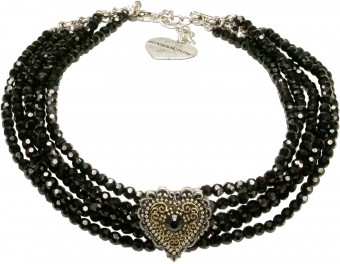 Pearl Choker Necklace Lara, Black