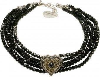 Perlen-Kropfkette Lara schwarz