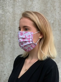 Mund-Nasen-Maske Blüten brombeer