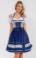 Preview: Dirndl Blue Roses