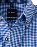 Preview: Olymp Hemd Trachtenhemd blau/weiss, Kariert