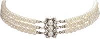 Vorschau: Perlenkropfkette Clara weiß