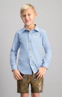 Tradycyjna koszula Dave jr. na niebiesko
