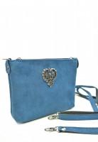 Vorschau: Wildledertasche Herz hellblau