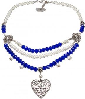 Collier Pauline blau-weiß