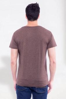 T-Shirt Wilder Hirsch braun