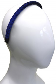 Samt-Haarreif Marineblau