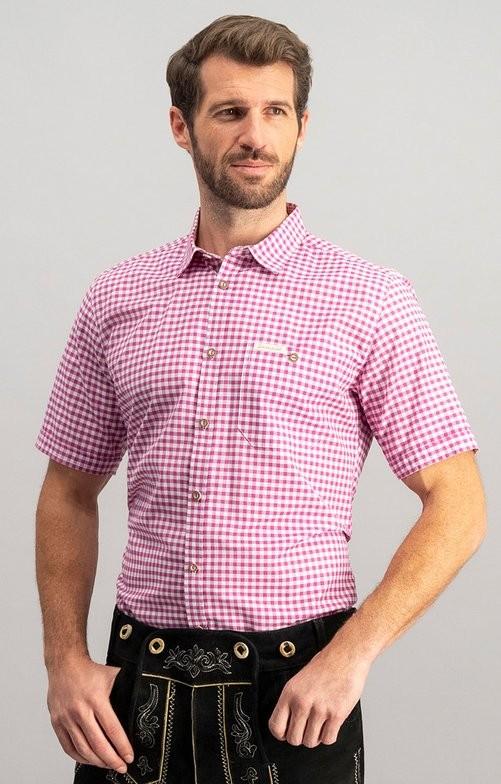 Traditioneel shirt Renko in bes