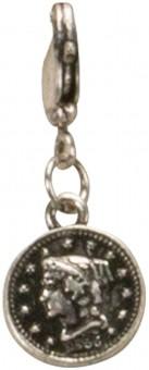 Trachten-Anhänger silberne Münze mini