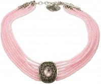 Perlenkropfkette Alice rosa
