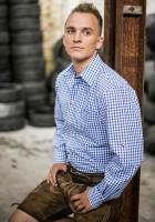 Vorschau: Trachtenhemd Bertl mittelblau-kariert
