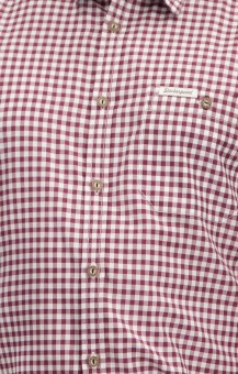 Traditional shirt Campos in burgundy
