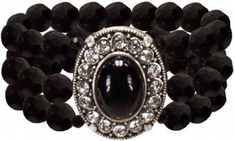 Perlenarmband Madeleine schwarz