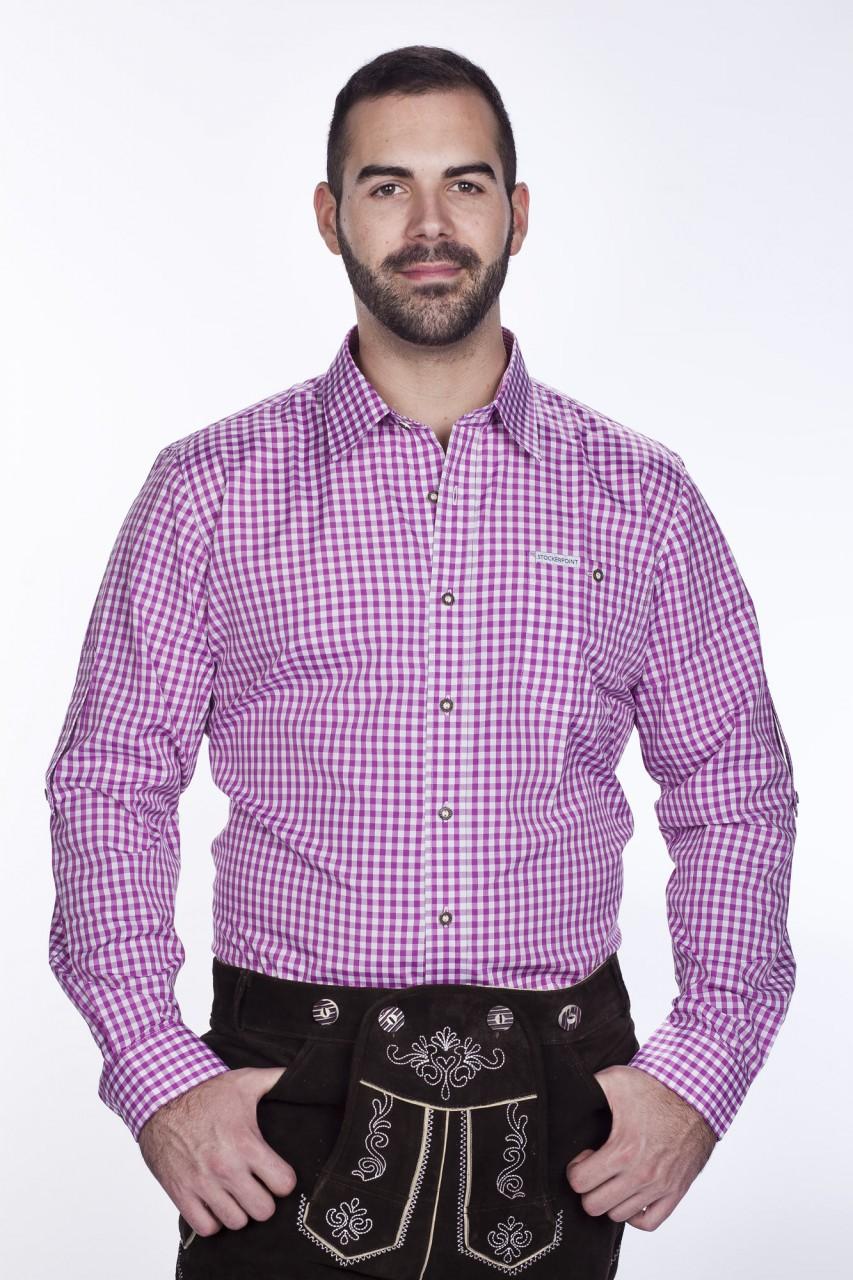 Trachtenhemd Beere