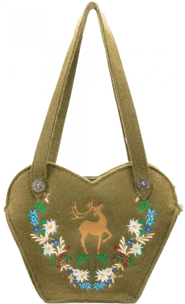 Filz-Trachtentasche Hirsch grün