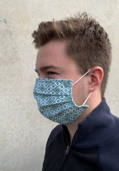 Mund-Nasen-Maske Leo oliv