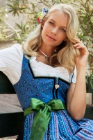 Preview: Dirndl Aura blau