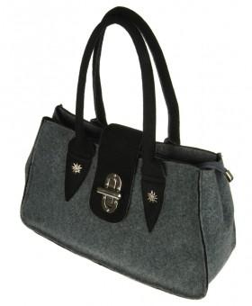 Handtasche Filz grau-schwarz
